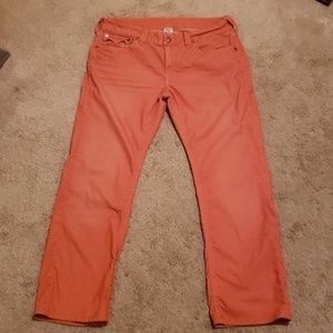 True Religion Ricky Orange Corduroy Jeans